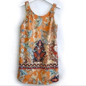 Lila Rose Orange Printed Dress